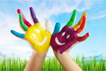 Сlipart Hands Painted Children school child concept dirty   BillionPhotos
