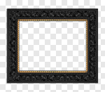 Сlipart Picture Frame Black Antique Ornate Old 3d cut out BillionPhotos
