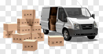 Сlipart Truck Delivering Moving House Delivery Van Box 3d cut out BillionPhotos