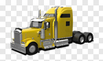 Сlipart Semi-Truck Truck Vehicle Trailer Moving Van Blue 3d cut out BillionPhotos