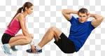 Сlipart workout trainer woman man posture photo cut out BillionPhotos