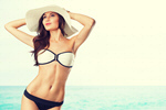 Сlipart beach woman breast white hat   BillionPhotos