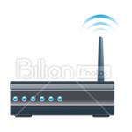 Сlipart router wireless technoloogy wireless router wireless wi-fi router vector icon cut out BillionPhotos