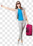 Сlipart tourist holiday girl tourism bag photo cut out BillionPhotos
