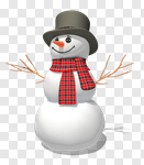Сlipart Snowman Christmas Winter Snow Three-dimensional Shape 3d cut out BillionPhotos
