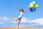 Сlipart Balloon Hot Air Balloon Jumping Women People photo  BillionPhotos