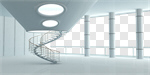 Сlipart Domestic Room Indoors Futuristic Architecture Contemporary 3d cut out BillionPhotos