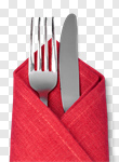 Сlipart Silverware Napkin Fork Place Setting Kitchen Utensil photo cut out BillionPhotos