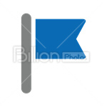 Сlipart flag pole caution stick tilt vector icon cut out BillionPhotos