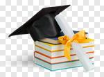 Сlipart Graduation Diploma Mortar Board Book Cap photo cut out BillionPhotos