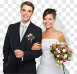 Сlipart Wedding Bride Groom Couple Wedding Ceremony photo cut out BillionPhotos