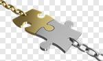 Сlipart Trust Chain Puzzle Connection Partnership 3d cut out BillionPhotos