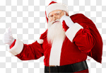Сlipart Santa Claus Cheerful Christmas Happiness Thumbs Up photo cut out BillionPhotos