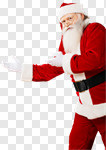 Сlipart Santa Claus Christmas Frame Isolated White photo cut out BillionPhotos