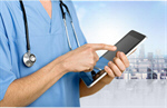 Сlipart Doctor using digital tablet doctor health medical clinic   BillionPhotos