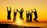 Сlipart jumping people on the sunset background beach travel sun sunset   BillionPhotos
