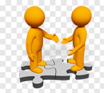 Сlipart Handshake Partnership People Connection Greeting 3d cut out BillionPhotos