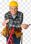Сlipart Electrician Manual Worker Construction Worker Construction Building Contractor photo cut out BillionPhotos