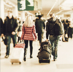 Сlipart People with luggage Airport Travel Arrival Departure Board Frankfurt   BillionPhotos