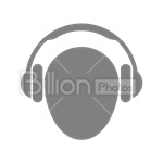 Сlipart music player mp3 player audio player MP3 headphones vector icon cut out BillionPhotos