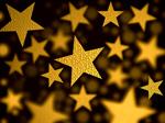 Сlipart Christmas Backgrounds Holiday Gold Star Shape 3d  BillionPhotos