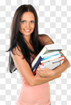 Сlipart Student College Student Library Book Teenager photo cut out BillionPhotos