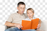 Сlipart father and son sofa browsing two fun photo cut out BillionPhotos