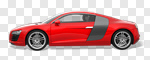 Сlipart Car Sports Car Red Status Car Luxury 3d cut out BillionPhotos