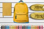 Сlipart School supplies backpack top school view   BillionPhotos