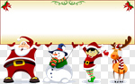 Сlipart Christmas Santa Claus Snowman Elf Reindeer vector cut out BillionPhotos