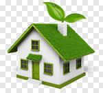 Сlipart House Green Environment Residential Structure Built Structure 3d cut out BillionPhotos