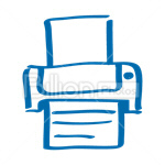 Сlipart Printer Computer Printer Office Supply Computer Isolated vector icon cut out BillionPhotos