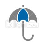 Сlipart Umbrella Rain Protection Wet Parasol vector icon cut out BillionPhotos