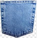 Сlipart Pocket Jeans Denim Blue Textile photo cut out BillionPhotos