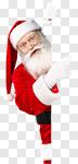 Сlipart santa claus poster hand hat photo cut out BillionPhotos