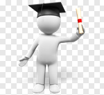 Сlipart Three-dimensional Shape Graduation People Cartoon Diploma 3d cut out BillionPhotos