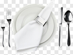 Сlipart Place Setting Napkin Plate Dishware White photo cut out BillionPhotos