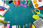 Сlipart school blackboard background books color   BillionPhotos