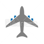 Сlipart airplane flying air vehicle plane transportation vector icon cut out BillionPhotos