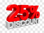 Сlipart Sale 25% Percentage Sign Number 25 Retail 3d cut out BillionPhotos