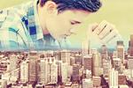 Сlipart Man pray in town pray christian worship god   BillionPhotos