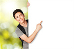 Сlipart Men Sign Student Pointing Teenager Holding   BillionPhotos