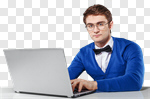 Сlipart man laptop glasses bow tie amazing photo cut out BillionPhotos