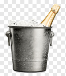 Сlipart Champagne Luxury Ice Bucket Cooler Food photo cut out BillionPhotos