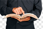 Сlipart Bible Priest Preacher Reading Minister photo cut out BillionPhotos