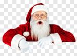 Сlipart Santa Claus Santa Hat Christmas Sign Men photo cut out BillionPhotos
