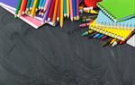 Сlipart school back blackboard background books   BillionPhotos
