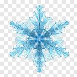 Сlipart Snowflake Christmas Snow Blue Decoration 3d cut out BillionPhotos