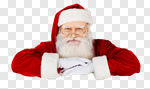 Сlipart Santa Claus Christmas Santa Hat Sign Smiling photo cut out BillionPhotos