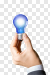 Сlipart Light Bulb Solution Human Hand Business Intelligence photo cut out BillionPhotos